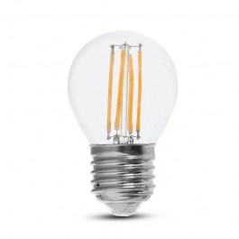 LED Bulb 6W Filament E27 G45 Clear Cover 4000K 130lm/W