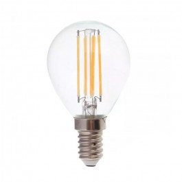LED Bulb 6W Filament E14 P45 Clear Cover 6400K 130lm/W