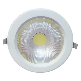 40W LED Downlight Reflector - PKW Body, White