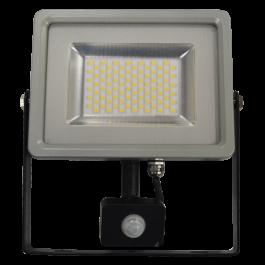 30W LED Sensor Floodlight Black/Grey body SMD,  Warm White