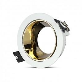 GU10 Fitting White, Gold Round