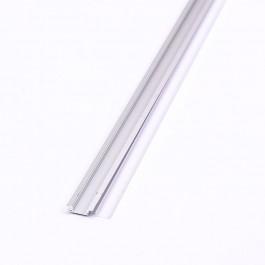 Aluminium Profile 2000 x 24.7 x 7mm Milky