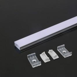 Aluminium Profile 2000 x 23.5 x 10mm Milky