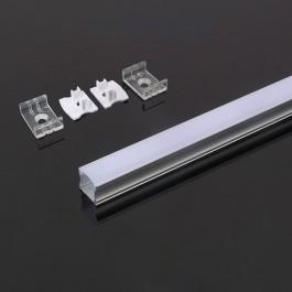 Aluminium Profile 2000 x 17.2 x 15.5mm Milky