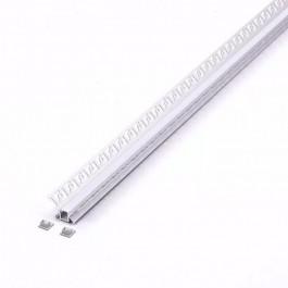 Aluminium Profile Set Milky Gypsum Inner Corner 2000mm