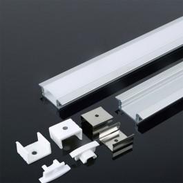 Aluminum Profile 2m 24.7 x 7 mm White Housing