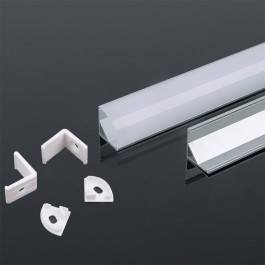 Aluminum Profile 2m 15.8 x 15.8 mm White Housing