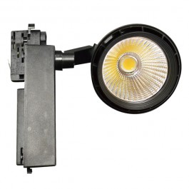33W LED Track Light Black Body, Natural White
