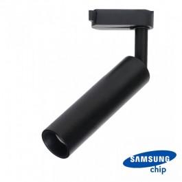 7W LED Tracklight SAMSUNG CHIP Black Body Warm White
