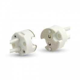 MR16 Ceramic Lamp Holder With Silicon Cable 5 pcs