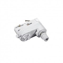 4 Track Light Adaptor White