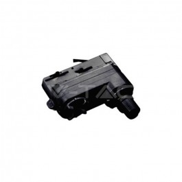 4 Track Light Adaptor Black