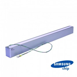 LED Linear Up Down Light SAMSUNG Chip - 60W Hanging Silver Body 4000K