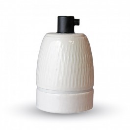 Porcelan Lamp Holder Fitting White