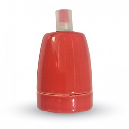 Porcelan Lamp Holder Fitting Red
