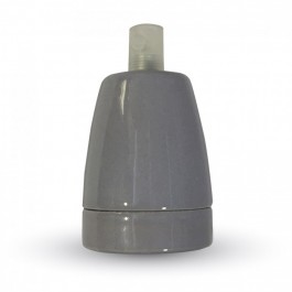 Porcelan Lamp Holder Fitting Grey