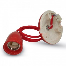 Porcelan Lamp Pendant Red