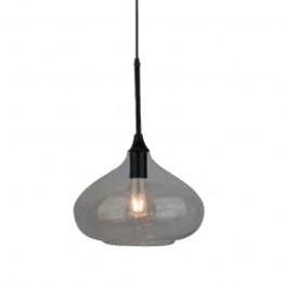 Pendant Light Modern Black Glass Sleek Transparent Ф280mm