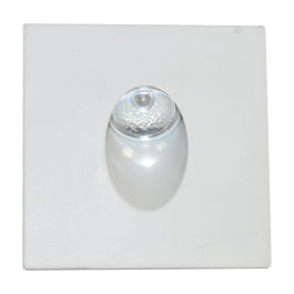 3W LED Downlight Steplight Square - White Body, Warm White