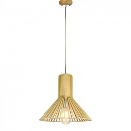 Wooden Pendant Light Cone D350 x H310mm