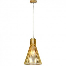 Wooden Pendant Light Small Cone D250 x H450mm