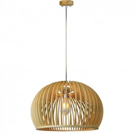Wooden Pendant Light Big Round  D440 x H280mm