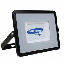 50W LED Floodlight SMD SAMSUNG CHIP Black Body Natural White