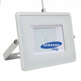 50W LED Floodlight SMD SAMSUNG Chip White Body 4000K