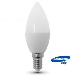 LED Bulb - SAMSUNG CHIP 7W E14 Plastic Candle 3000K