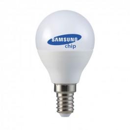 LED Bulb - SAMSUNG CHIP 4.5W E14 A++ P45 Plastic Natural White