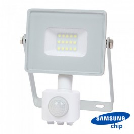 10W LED Sensor Floodlight SAMSUNG CHIP Cut-OFF Function White Body 3000K