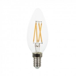 Filament LED Candle Bulb - 4W Cross E14 Warm White Dimmable