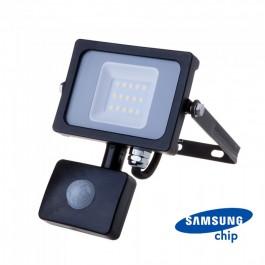 10W LED Sensor Floodlight SAMSUNG CHIP Cut-OFF Function Black Body 4000K