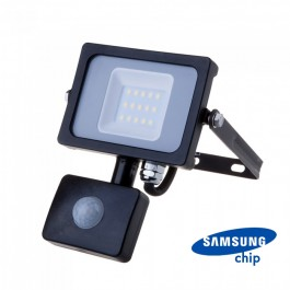 10W LED Sensor Floodlight SAMSUNG CHIP Cut-OFF Function Black Body 6400K