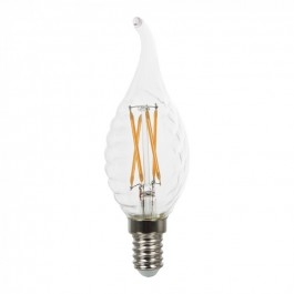 LED Bulb - 4W Filament E14 Twist Candle Cross Tail Flame Warm White Dimmable