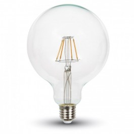 Filament LED Bulb - 4W E27 G125 Warm White Dimmable