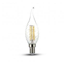 LED Bulb 4W Filament Twist Candle Flame E14 Natural White