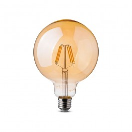 LED Bulb 6W Filament E27 G125 Amber Warm White