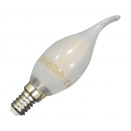 LED Bulb - 4W Filament E14 Frost Cover Candle Flame Warm White Dimmable