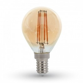 Filament LED Bulb Amber Cover - 4W E14 P45 Warm White
