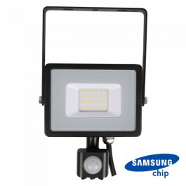 20W LED Sensor Floodlight SAMSUNG CHIP Cut-OFF Function Black Body 3000K