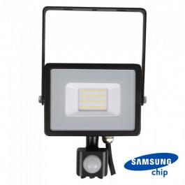 20W LED Sensor Floodlight SAMSUNG CHIP Cut-OFF Function Black Body 6400K
