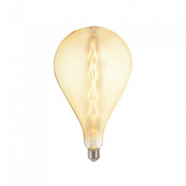 LED Bulb - 8W E27 G165 Amber Glass Dimmable 2200K