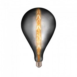 LED Bulb - 8W E27 G165 Grey Smoky Dimmable 2200K