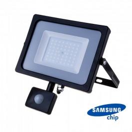 50W LED Sensor Floodlight SAMSUNG CHIP Cut-OFF Function Black Body 4000K