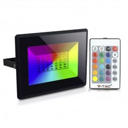 50W LED Floodlight with Remote Control RGB IP65