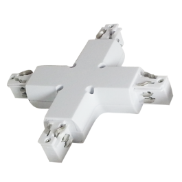 4X Track Light Connector White
