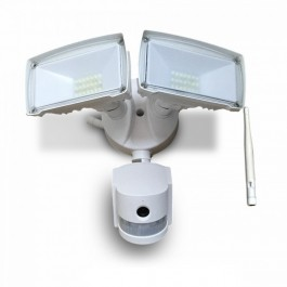 18W LED Floodlight with WiFi Sensor Camera White