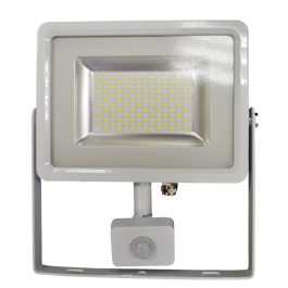 50W LED Sensor Floodlight White body SMD -  Natural White