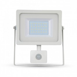 50W LED Sensor Floodlight White body SMD, White